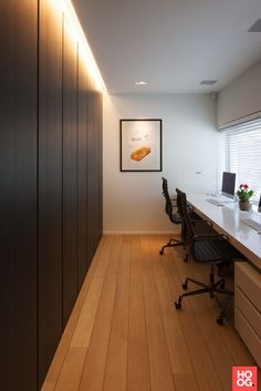 Home Office Setup, Home Office Space, Home Office Design, House Design, Garage To Living Space, Casa Loft, Study Room Design, Small Home Offices, Luxury Office