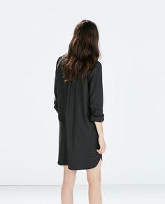 ZARA - WOMAN - SHIRT-DRESS WITH SLITS AND POCKETS