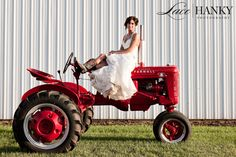 Bride on a tractor, i should have done this