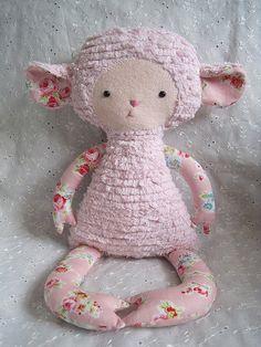 Natalie a Handmade Lamb Friend by   heatherfeather022 , via Etsy.