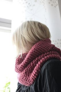 chunky knit cowl scarf. Warm and cozy!