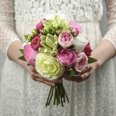 A Posy Of Paper Roses, Succulents & Silk Ranunculus by Paper Bea Company - handmade paper flowers