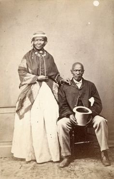 "William Moore (attr.), inscribed: ""Macomo and his chief wife,"" South Africa, c. 1869."