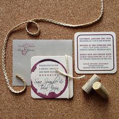 Wine Themed Bridal Shower Invite