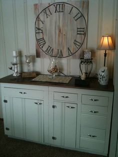 kitchen cabinets repurposed in the dining room