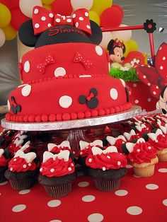 Another cute cake idea - I'm not sure what direction this Disney party is going to go: Princesses, classic Disney, Pixar, or all of the above.