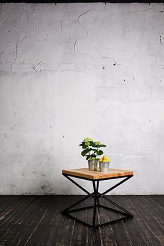 Wooden coffee table in rustic or loft interior design style by Tseh72