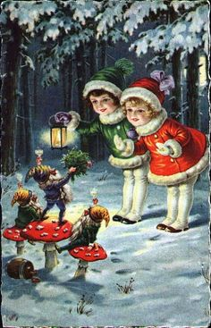 Carte ancienne de Noël Plus