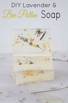 How To Make Soap - Lavender and Bee Pollen Soap Making Ideas - How to make your own organic s Essential Oil Brands, Essential Oils Soap, Make Your Own, Make It Yourself, How To Make, Homemade Scented Candles, Bee Pollen, Soap Bubbles, Organic Soap