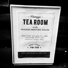 Tea room at the Friends Meeting House