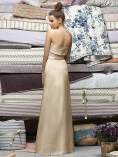 Sheath/Column Strapless Satin Floor-length Draped Bridesmaid Dresses #01011865