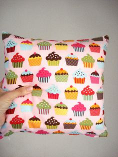 Cupcake  Pillow Decorative Pillow  Living Decor by cronopia6, $12.00