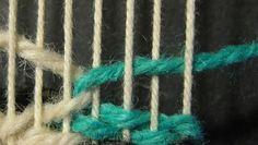 Interlock-Step-tapestry weaving. something new to learn