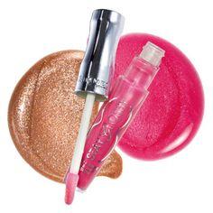 """Lasting lip glosses: Rimmel London Stay Glossy 6 hour lip gloss in """"So Fabulous!"""" and """"Eternal Flirt"""""""