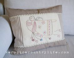 EMBROIDERY EPATTERN Heart's Angel  L'angelo by VERONICACOUNTRYLIFE, €6.00