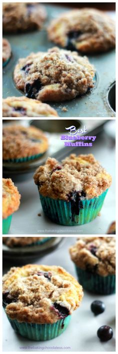 Best Blueberry Crumble Muffins