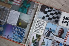 I want to make a cute scrapbook like this! Capturing every moment, adding cute sayings, all arranged in little plastic picture squares