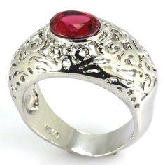 Pink Raspberry Rhodolite Garnet S/Silver Ring Size 8 Weimaraner Rescue Charity  #Unbranded