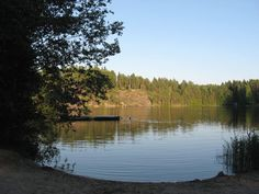 The beach of Sorvalampi (Espoo, Finland).