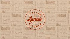 Lena's Italian Kitchen Logo Restaurant, Italian Restaurant Logos, Italian Logo, Restaurant Design, Pizza Restaurant, Pizza Branding, Pizza Logo, Jojo's Pizza, Design Studio Names