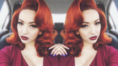 Here is a classic Pin-up glamour hair tutorial for you! Perfect for all pin-up girls. I can never get enough of curly hair xoxo PRODUCTS USED: UNI. Voluminous Hair Tutorial, Hair Curling Tutorial, Updo Hairstyles Tutorials, Retro Hairstyles, Wedding Hairstyles, Hairstyles Pictures, Hair Tutorials, Girl Hairstyles, Elegance Hair
