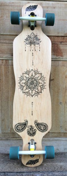 New longboard design | handpainted | Acryl | diy