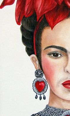 Frida Kahlo Oil Painting, Frida Kahlo art, Mexican painting, Mexican decor, Frida Kahlo - New Deko Sites Frida Paintings, Mexican Paintings, Acrylic Paintings, Diego Rivera, Frida Kahlo Portraits, Frida Kahlo Artwork, Frida And Diego, Frida Art, Mexican Art