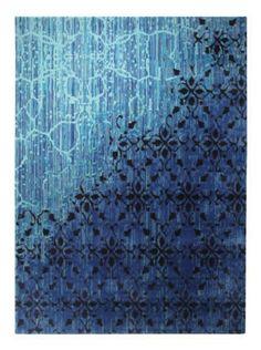 Tapis bleu patchwork saint maclou d co contemporaine - Tapis vintage saint maclou ...