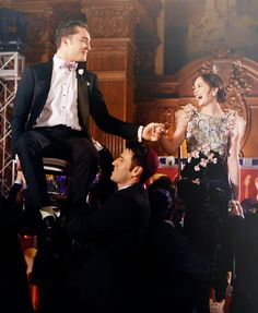 Chuck  Blair. Gossip girl