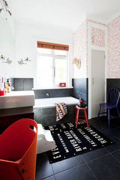 352971cd0c68 Florence Broadhurst wallpaper and dark tile.