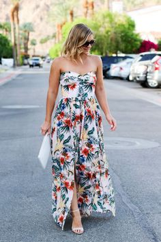 Palm Print Maxi in Palm Springs   La Quinta Resort & Spa   Destination Wedding