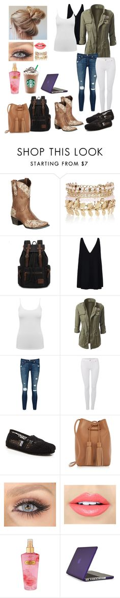 """""""#studentlife"""" by camijulie ❤ liked on Polyvore featuring Lane, River Island, STELLA McCARTNEY, M&Co, rag & bone/JEAN, 7 For All Mankind, TOMS, Tom Ford, Fiebiger and Victoria's Secret"""