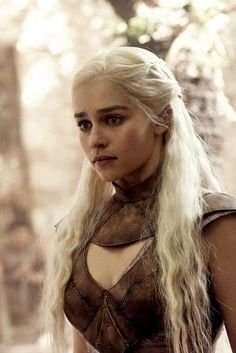 "Emilia Clarke as Queen Daenerys Targaryen, Mother of Dragons, from ""Game of Thrones"""