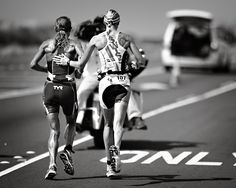 The strong one will helps others along the way.    Chrissie Wellington at Kona 2011