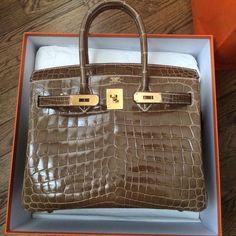 Hermès 30cm Birkin | Ficelle Niloticus Crocodile | Gold Hardware | 2016