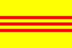 south vietnamese flag | 6x4 Printable South Vietnamese Flag (High Resolution)