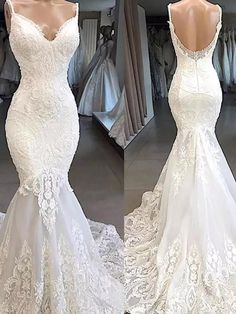 Welcome to our store. We will provide best service and product for you. Please contact us if you need more information than it is stated below .We could make the dresses according to the pictures came from you,we welcome retail and wholesale.A:Condition:brand new ,column ,mermaid or A-line style,Length: Floor lengthFab Bridal Gowns, Wedding Gowns, Lace Wedding, Wedding Dress Necklines, Applique Dress, Vintage Bohemian, Vintage Dresses, Ball Gowns, Mermaid