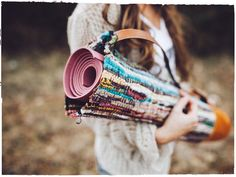 Yoga Bag from a rug #duy #yoga
