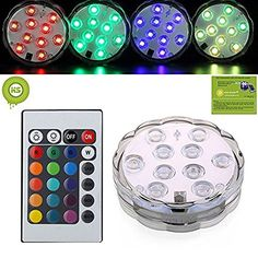KIWISWEET 10 LEDs RGB Submersible LED Light with Remote Controller,Multi Color Waterproof Flashing Bright light for Wedding/Party/Christmas/Swimming Pool/Fish Tank Decorations, http://www.amazon.co.uk/dp/B01FZ7I77A/ref=cm_sw_r_pi_awdl_x_B1Z9xbFFMWFB5