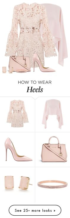 """""""LACE DRESS"""" by arjanadesign on Polyvore featuring Henri Bendel, Christian Louboutin, Michael Kors, Kate Spade, women's clothing, women's fashion, women, female, woman and misses"""