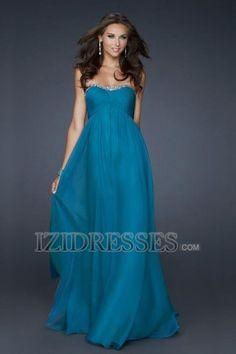 A-Line Sheath/Column Strapless Sweetheart Chiffon Prom Dress - IZIDRESSES.COM