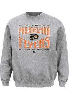 026568eae Majestic Philadelphia Flyers Mens Grey Ice Classic Sweatshirt Philadelphia  Area