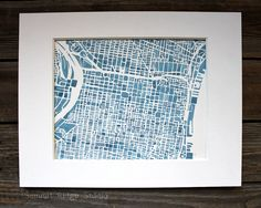 Philadelphia 8x10 Modern blueprint City Map by SummitRidge on Etsy, $200.00