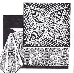 Pineapple square pattern - diagram
