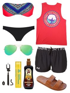 """""""Day 2   The Beach!"""" by southernprep52 ❤ liked on Polyvore featuring Rip Curl, Miss Selfridge, Under Armour, Ray-Ban, Arbonne and aweekatthebeachcontest"""
