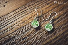 Clover Jewelry: Minimalist Dangle Earrings