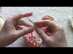 crochet baby sandals part 2
