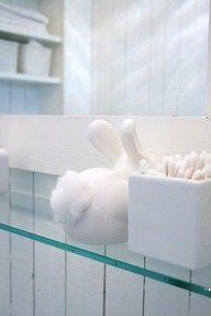 Bunny Cotton Ball Dispenser | Artfire.com