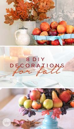 Looking for fall decorating ideas? Just look outside for inspiration! These easy 8 DIY Decorations for Fall from Hallmark bring the beauty of autumn inside.