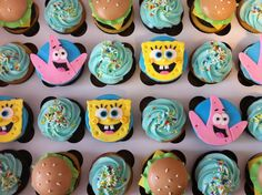 SPONGE BOB CUPCAKES 9 Adorable Character Cupcakes You Won't Believe! 9 - https://www.facebook.com/diplyofficial